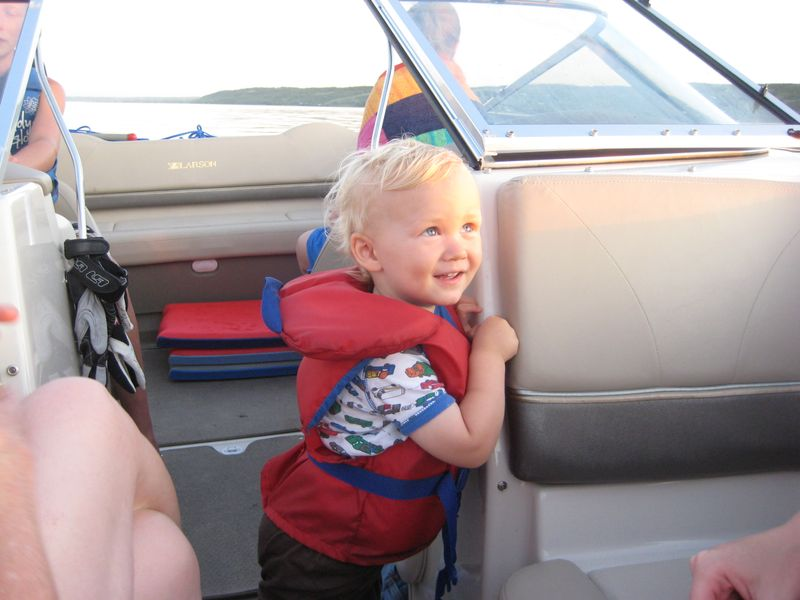 Andrew on the boat
