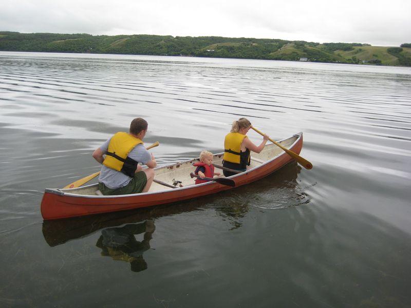 Canoeing with Andrew