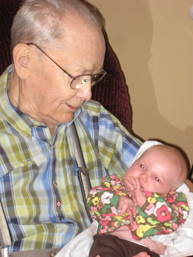 Ella and her Great-Grandad