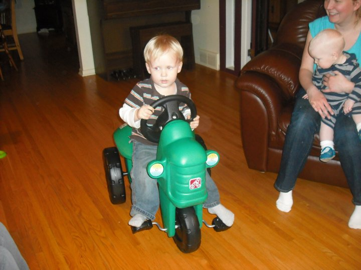 Andrew with his tractor
