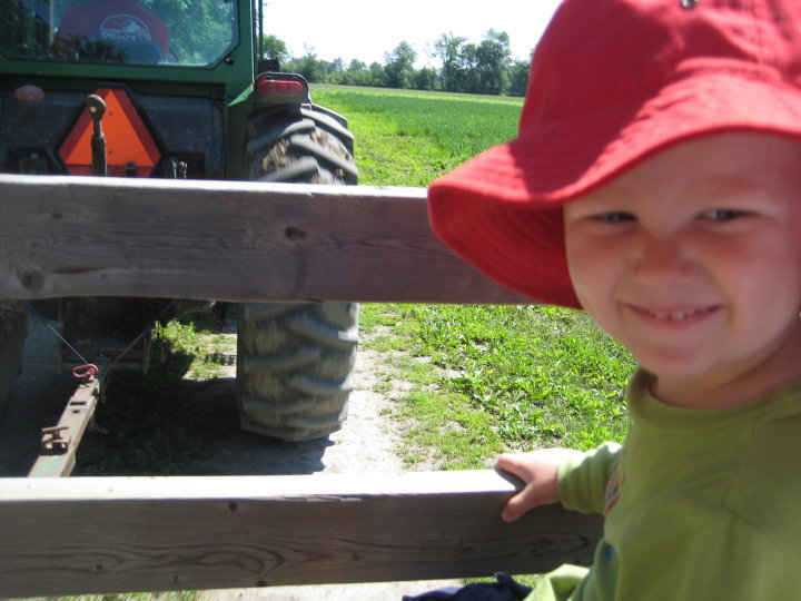 Andrew tractor ride